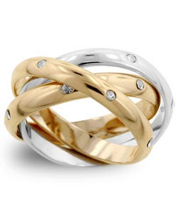 Kate Bissett Tri-tone Ring with CZ (More options available)