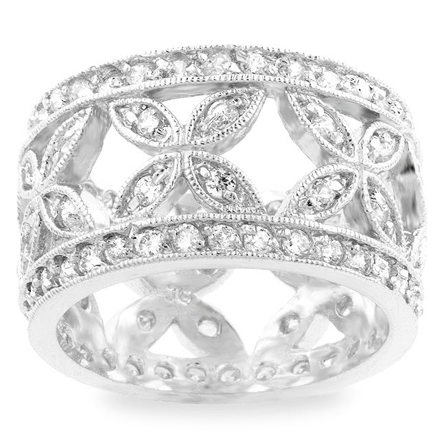 harlequin products cz iobi pattern large diamond silver bands ring eternity sterling rings band feshionn