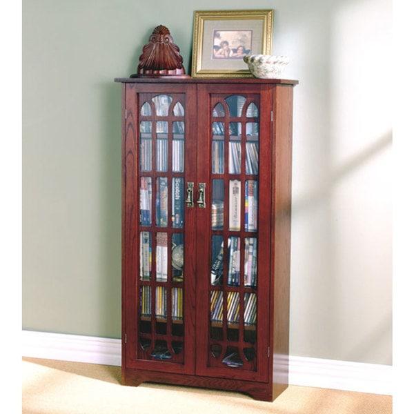 Cherry Window Pane Media Cabinet