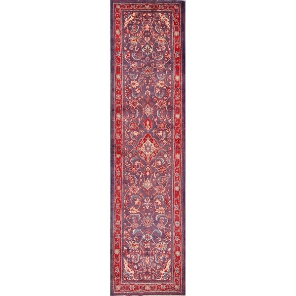 The Curated Nomad Modele Hand-knotted Persian Heirloom Item Runner Rug - 13'11 x 3'6