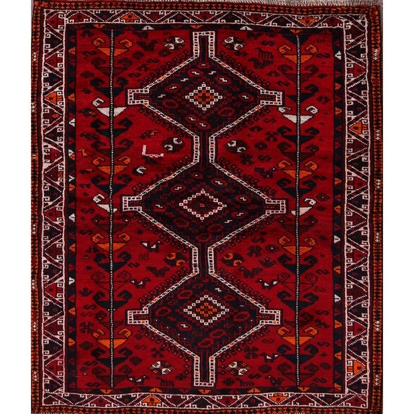 "Oriental Hand Knotted Shiraz Persian Area Rug for Bedroom - 6'3"" x 4'3"""