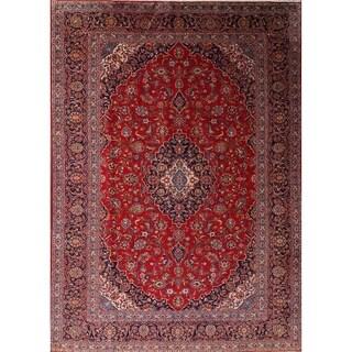 "Kashan Persian Handmade Area Rug For Living Room - 12'8"" x 9'1"""