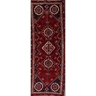 "Abadeh Shiraz Geometric Handmade Wool Persian Rug Tribal - 9'7"" x 3'6"" runner"