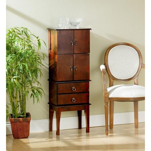 "Harper Blvd Cherry Wood Jewelry Armoire - 44.5"" h x 16"" w x 11"" d"