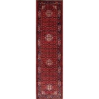 "Floral Hamedan Hand Made Persian Tradtional Classical Rug - 13'0"" x 3'6"" runner"