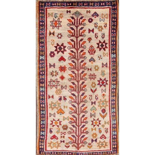 "Gabbeh Vintage Ghashghaei Persian Hand Made Rug - 5'11"" x 3'2"""