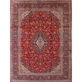 "Kashan Persian Traditional Handmade Medallion Dinning Room Area Rug - 12'10"" x 9'10"""