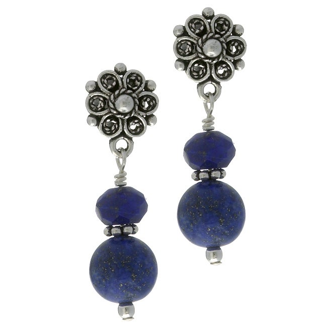 Lola's Jewelry Sterling Silver Blue Lapis Post Earrings