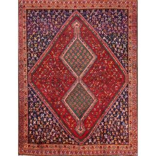 """Traditional Hand Made Antique Ghashghaei Shiraz Persian Area Rug - 6'1"""" x 4'8"""""""