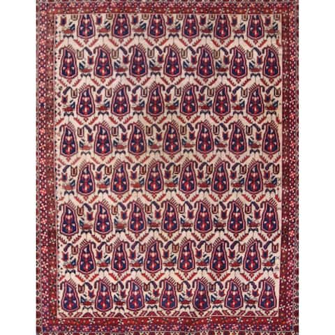 "Antique Traditional Afshar Kerman Persian Area Rug for Bedroom - 5'9"" x 4'7"""