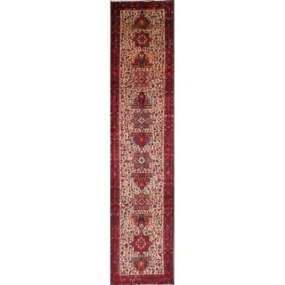 The Curated Nomad Petrova Heriz Handmade Heirloom Item Runner Rug - 14'6 x 3'2