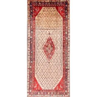 "Koliaei Hamedan Persian Geometric Hand Made Rug - 11'1"" x 4'10"""