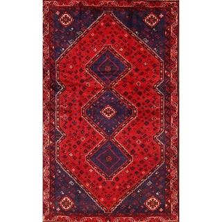 "Classical Shiraz Handmade Geometric Area Rug Persian for Foyer Red - 7'9"" x 4'9"""