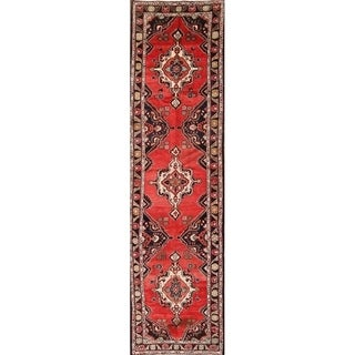 "The Curated Nomad Zayats Geometric Handmade Palace-sized Persian Heirloom Item Area Rug - 13'7"" x 3'7"" runner"