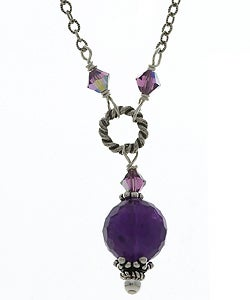 Lola's Jewelry Sterling Silver Amethyst Necklace