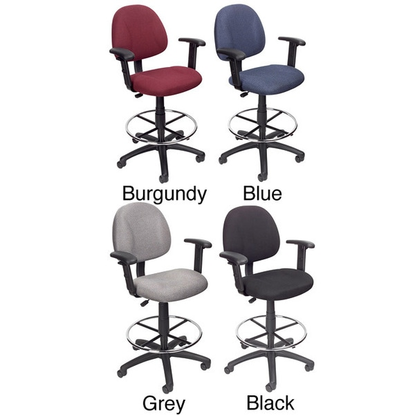 Boss Contoured Comfort Drafting Chair with Arms Free Shipping