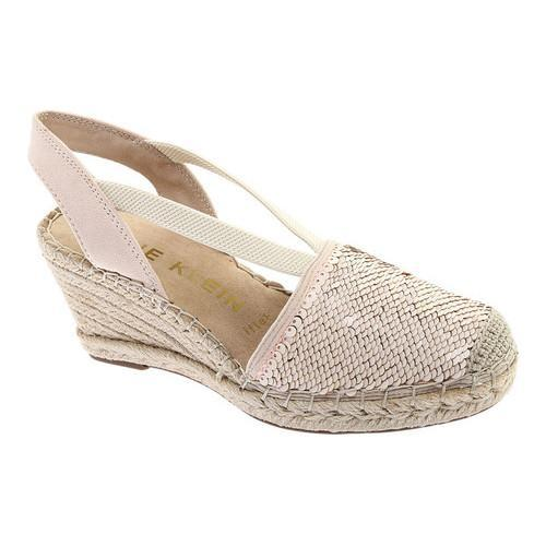 19a22b579a74 Shop Women s Anne Klein Abbey Espadrille Wedge Light Pink Multi  Fabric Sequins - Free Shipping Today - Overstock - 20972026