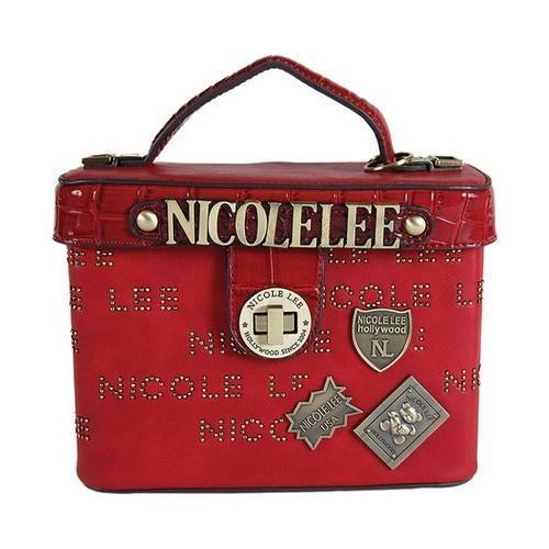 Shop Women s Nicole Lee Beckett Monogram Print Mini Top Handle Bag Red -  Free Shipping Today - Overstock.com - 20972139 c442356c6ba80