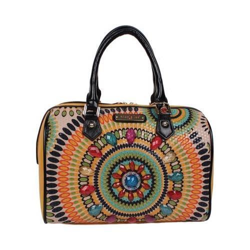 Shop Women s Nicole Lee Elin Boho Chic Boston Bag Mustard - Free Shipping  Today - Overstock.com - 20972152 63aeaa0e414ac