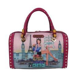 83608475aa Women's Nicole Lee Chloe Print Boston Bag Chloe | Overstock.com Shopping -  The Best Deals on Shoulder Bags