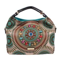 Women's Nicole Lee Elin Boho Chic Hobo Bag Olive