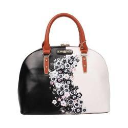 Women's Nicole Lee Haider Cascading Flowers Dome Bag Black