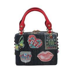 Women's Nicole Lee Thea Denim Patch Mini Handbag Patch