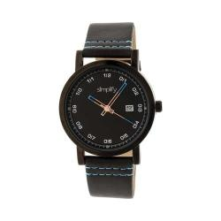 Simplify The 5300 Leather Band Watch Black