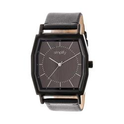 Simplify The 5400 Leather Band Watch Black