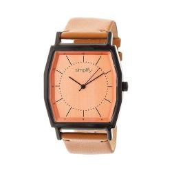 Simplify The 5400 Leather Band Watch Orange