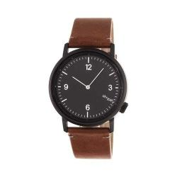 Simplify The 5500 Leather Band Watch Black/Brown