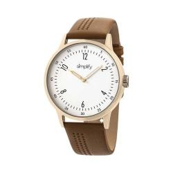 Simplify The 5700 Leather Band Watch Brown