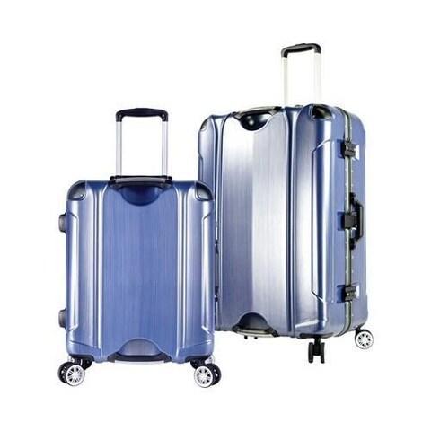 TPRC Luna 2-Piece 8 Wheel Spinner Luggage Set Brushed Blue
