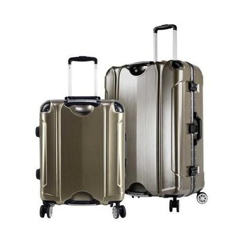 TPRC Luna 2-Piece 8 Wheel Spinner Luggage Set Brushed Gold