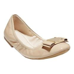 Women's Cole Haan Tali Modern Bow Ballet Flat Nude Patent Leather