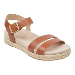 Women's Easy Spirit Ixia Ankle Strap Espadrille Bronze Leather (More options available)