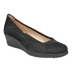Women's Naturalizer Betina 2 Wedge Pump Black Tumbled Leather (More options available)