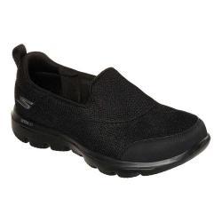 Women's Skechers GOwalk Evolution Ultra Rapids Slip-On Shoe Black/Black