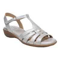 Women's Naturalizer Nanci Strappy Sandal Silver Leather