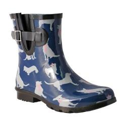 Women's Nomad Droplet Rain Boot Navy/White Dogs (More options available)