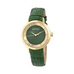 Women's Bertha Cecelia BR7503 Watch Green Leather