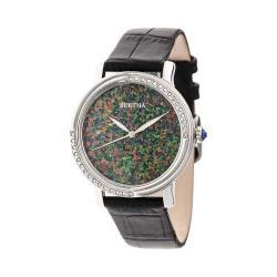 Women's Bertha Courtney BR7901 Watch Black Leather/Opal