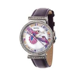 Women's Bertha Emily BR7805 Watch Purple Leather/Mother of Pearl