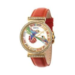 Women's Bertha Emily BR7806 Watch Orange Leather/Mother of Pearl