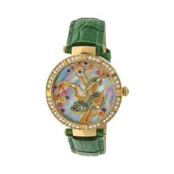 Women's Bertha Mia BR7403 Watch Green Leather/Mother of Pearl