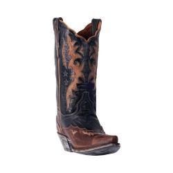 Women's Dan Post Boots Amelia Cowgirl Boot DP3742 Chocolate/Tan Leather