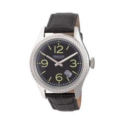 Men's Heritor Automatic HERHR7103 Barnes Watch Black Leather/Silver/Black