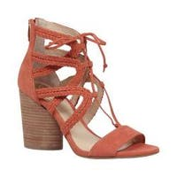 Women's Vince Camuto Ambular Lace Up Sandal Melon Daiqui Kid Suede
