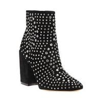 Women's Vince Camuto Drista Studded Bootie Black True Suede