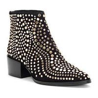 Women's Vince Camuto Edenny Studded Bootie Black Luxe True Suede